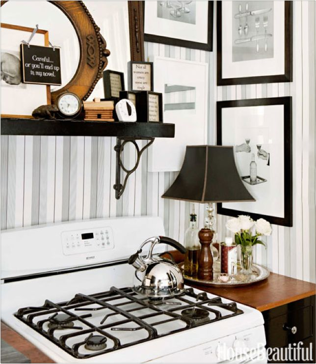 Love making the kitchen look more like a living area. No need to just put Kitchen things in the kitchen!