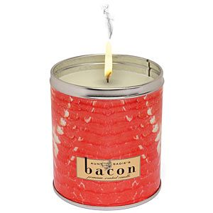 ahhh...the smell of bacon Ideas, Gift, Bacon Scented, Sizzling Bacon, Scented Candles, Things, Bacon Candles, Bath And Bodyworks, Products