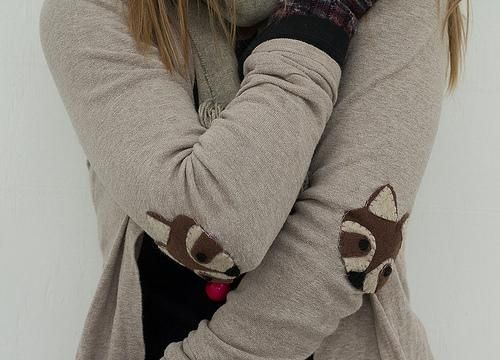 DIY Elbow Patches DIY: raccoon week: elbow patches