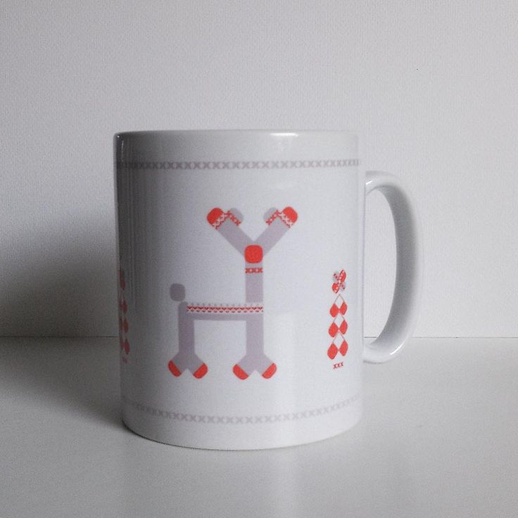 Mug of tea, coffee or chocolate? Whatever do You prefer.  Red Noused Reindeer. Character design.