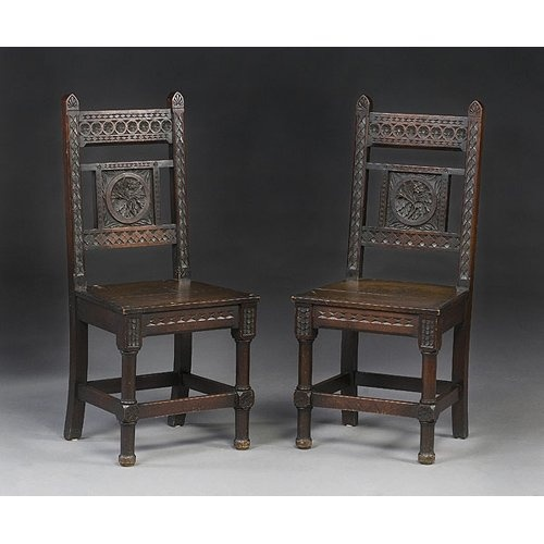 Beautiful Cincinnati art carved chairs, hand-carved in black walnut, ca.  1880 - 70 Best Cincinnati Art Carved Furniture Images On Pinterest