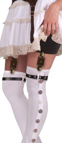 Steampunk Garter with Buckles are perfect for finishing off that Victorian Steampunk costume!  Next day delivery from Sydney or Melbourne Australia