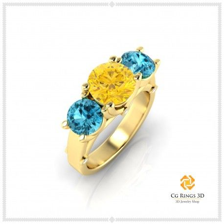 3D Gemstone Rings