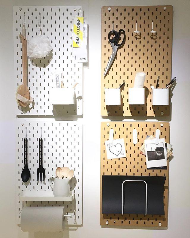 Vi har vært på Ikea Democratic Design Day 2016, og fått se utrolig mye fint som kommer de neste to årene!! Se på disse kule pegboard-tavlene 'Skådis', som kommer i butikk våren 2017 (litt lenge å vente, men bare å glede seg!). Her kan man organisere etter ulike behov med ulikt tilbehør Digger de! Kjempefine og lette materialer også. #boligpluss #ikeaddd #sponsetreise