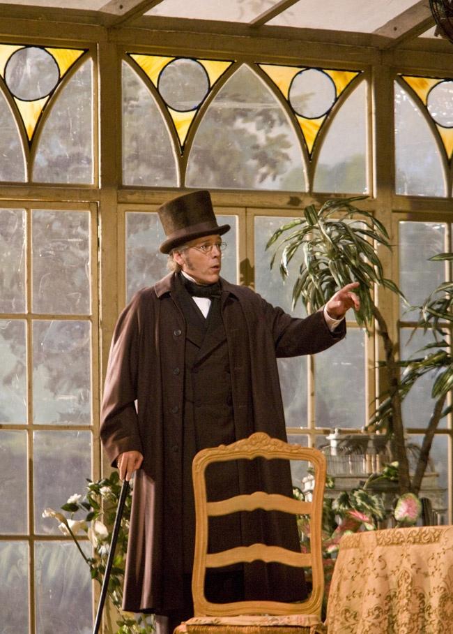 "Thomas Hampson as Germont in Act II, scene 1 of Verdi's ""La Traviata."" Photo: Ken Howard/Metropolitan Opera"
