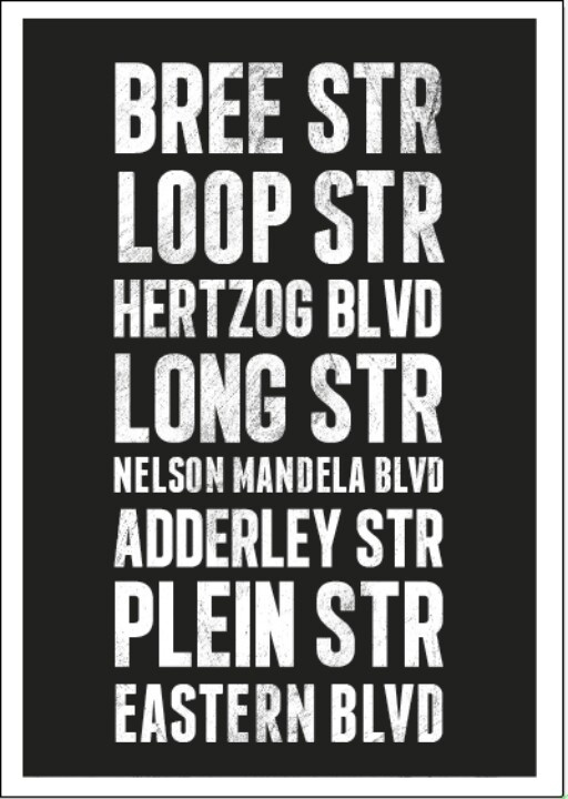 Cape Town Streets Poster by @BlackGoldZA