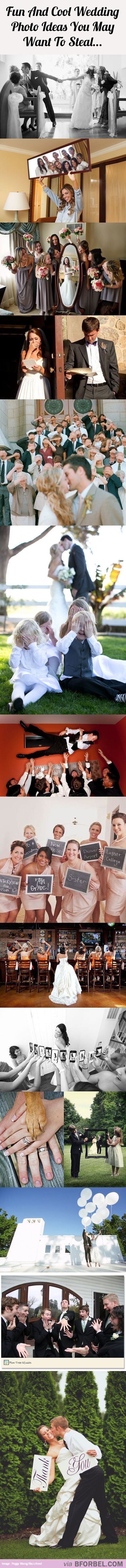 15 Fun And Cool Wedding Photo Ideas You May Want To Steal…