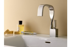 Lacava's Spiro faucet resembles a ribbon...subtle and different.