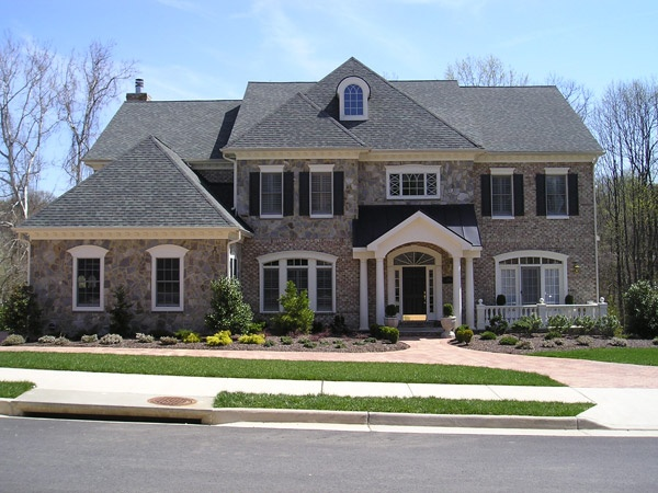 65 best images about elegant exteriors on pinterest for Custom brick homes