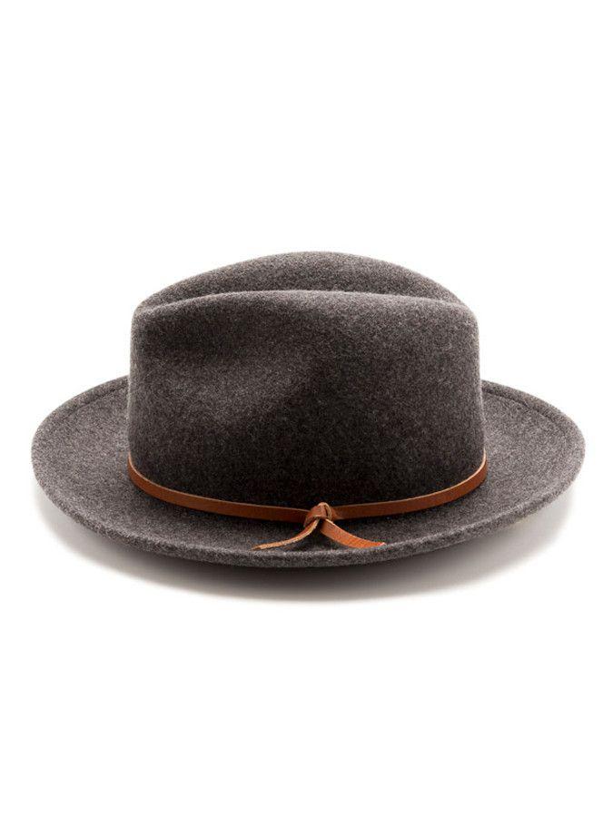 b1e6dccb387e85 Luke Vintage Fedora, Modell 'Luke', grau, mit geknotetem, hellbraunen  Lederriemen ($ 90,00). | Yellow 108 via Wheat & Co. | Man Fashion | Hats,  Mens fashion ...