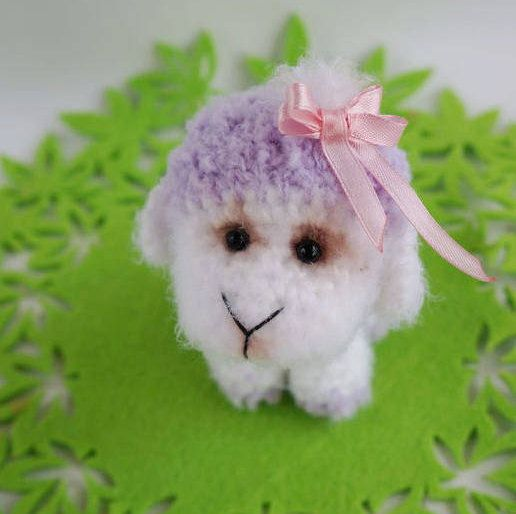 Tiny Sheep crochet Sheep Plush Fluffie Amigurumi Sheep stuffed