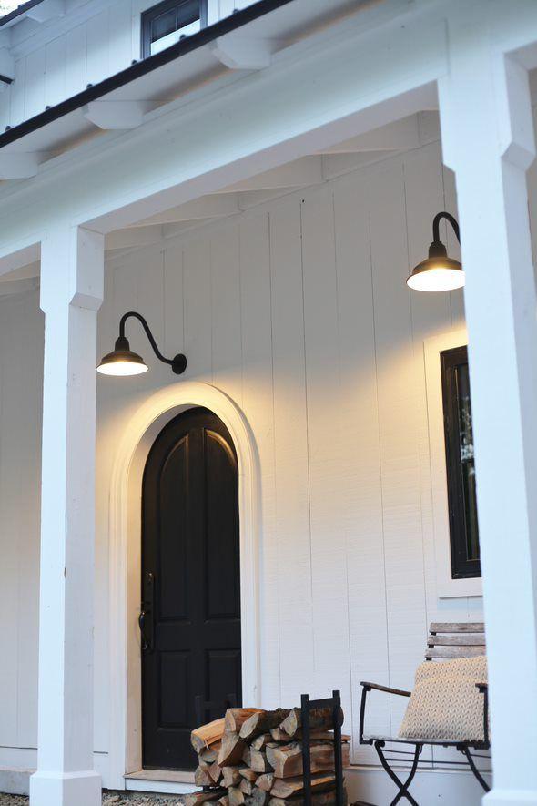Bomber Gooseneck Light Exterior Lighting Modern Farmhouse Farmhouse Exterior