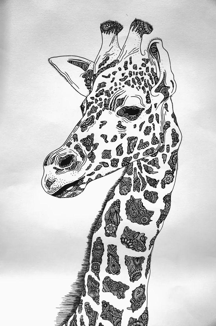 Жираф как нарисовать картинки