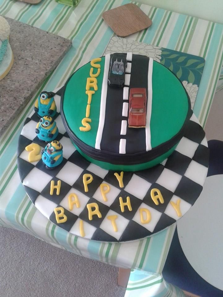 My Grandson loves minions and cars, so quick cake as his Birthday is one day away from mums .