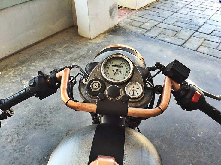 The #RoyalEnfield #Bobber #project By Thodoris Kapodistrias & Costas Tsabunaris #custom #motorcycle