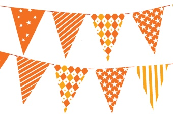 Free download - cake garland - can also be used as little flags on toothpicks