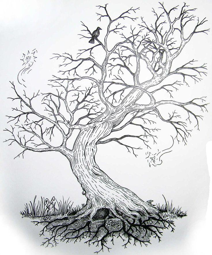 дерево рисунок графика тюремном