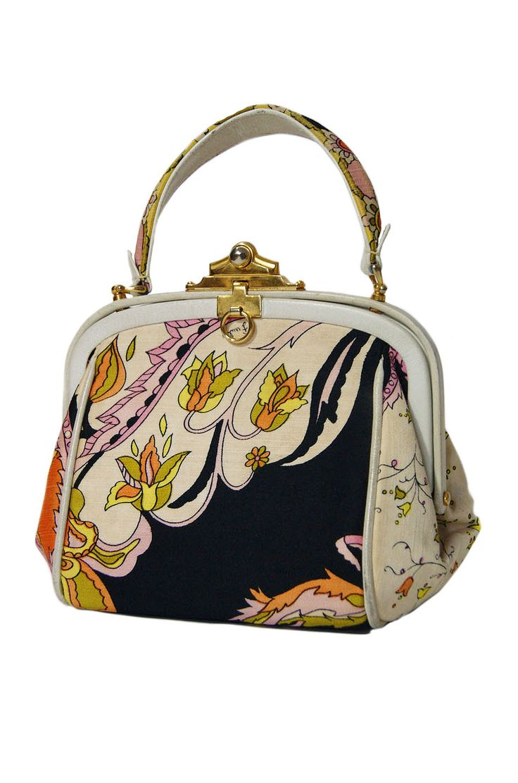 1960s Perfect Pink Print Pucci Bag