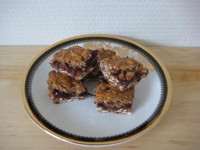 Vezelrijke gevulde cranberry koekjes. Een tussendoortje in een gezond koekje.