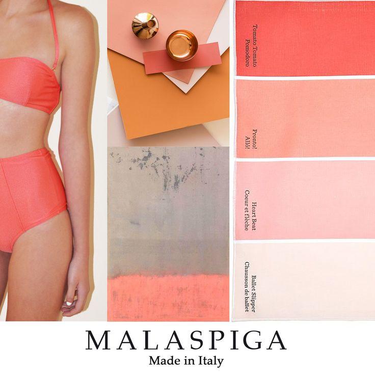 #swimwear #malaspiga #peach #pink #summer #solidcolor #chic #madeinitaly #luxury #coral