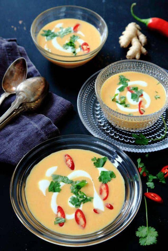 Till morotens och kokosens naturligt söta smak bryter ingefäran och limen fint.