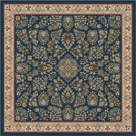 Milliken�Halkara 91-in x 91-in Square Blue Transitional Nylon Area Rug