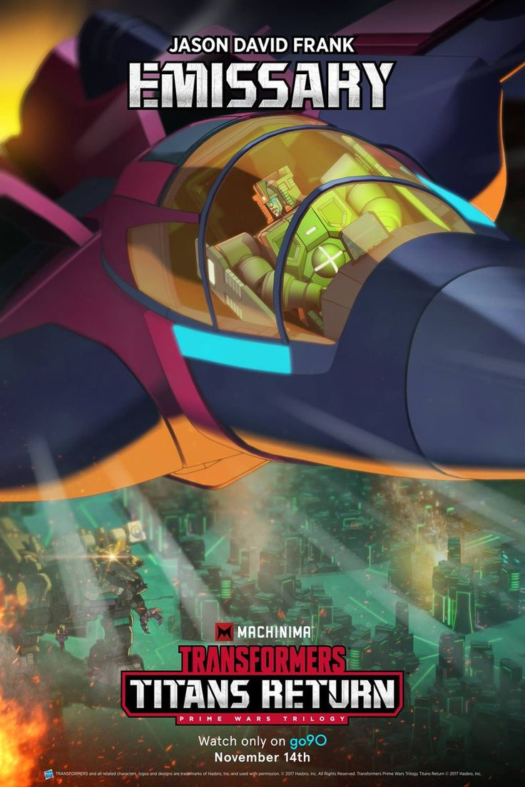 New Machinima Transformers Titans Return Poster with Windblade, Trypticon, and Emissary