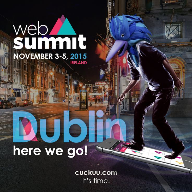 It's #BacktoTheFuture day and I'm taking my hoverboard to the largest technology conference in Europe. Web Summit is coming and I'm excited to tell you that, among thousands of entries from around the world, Cuckuu is one of the 100 selected start ups to the Beta Awards! Dublin, here I go! Paddy Cosgrave let's have a Guinness. #Cuckuu #ItsTime #WebSummit2015