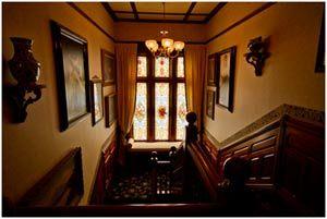 Staircase, Victoria's Historic Inn.  Wolfeville, Nova Scotia