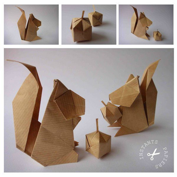 Origami Squirrel & Acorn