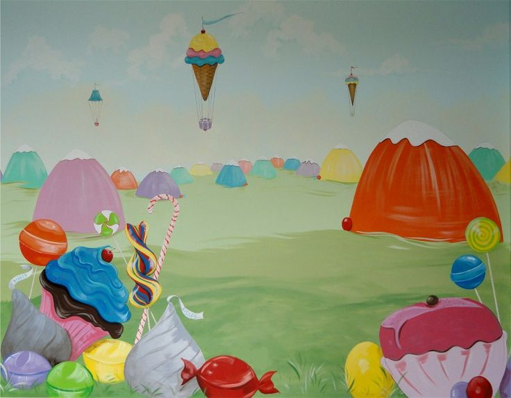 17 best images about aubrey 39 s candyland nursery on for Candyland wall mural