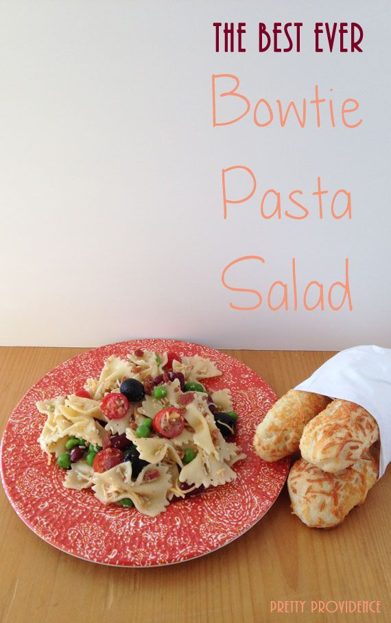 The Best Ever Bowtie Pasta Salad | pretty providence