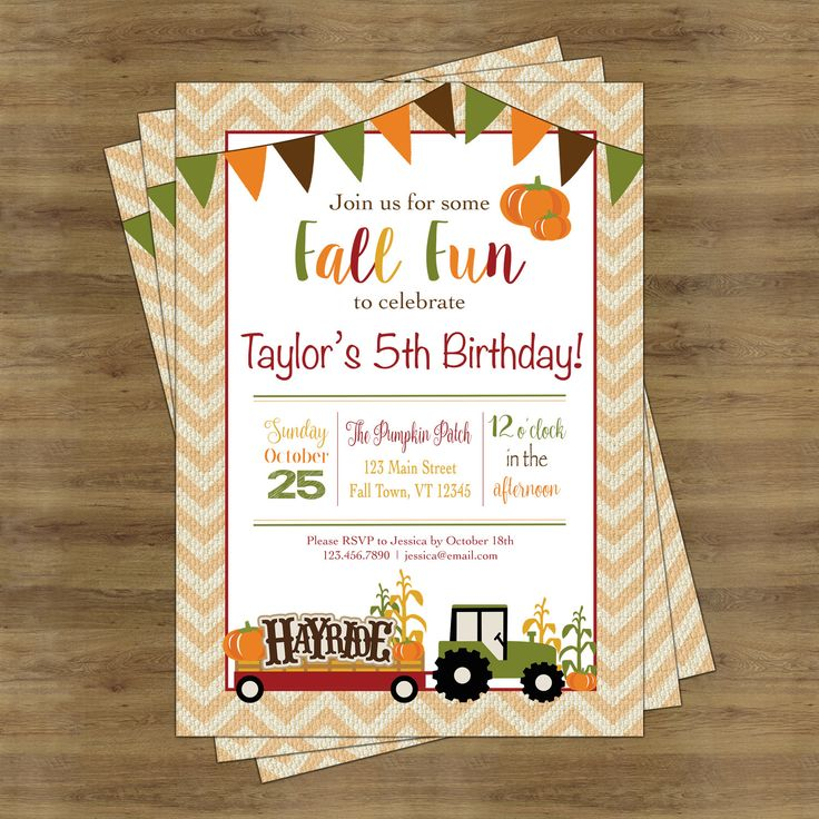 happy birthday invitation pictures%0A Fall Birthday Invitation  Fall Birthday Party  Fall Party Invitations   Pumpkin Birthday Invitation