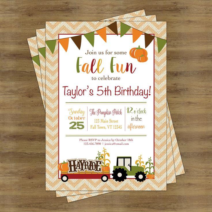 Best 25+ Fall birthday invitations ideas on Pinterest | Pumpkin ...