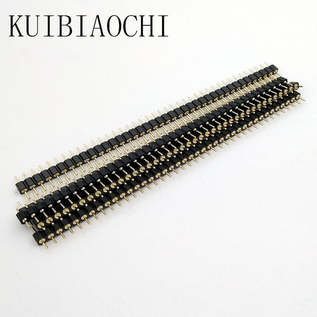 5Pcs 40Pin 2.54mm Single Row Round Female Pin Header Socket Gold Plated Best