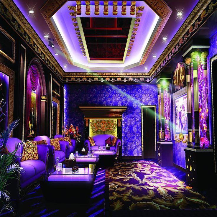 living ktv karaoke paper customized mural themes coffee wallpapers bar