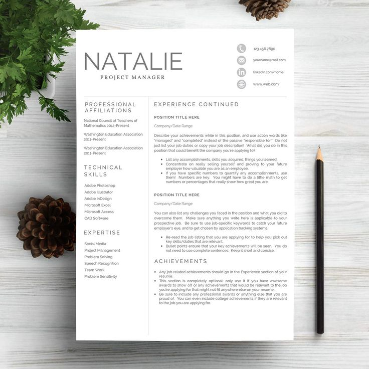 Resume Template 5 PagesCV 64 best Professional