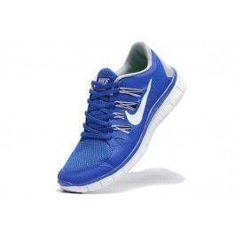 Nike Free 5.0+ Herresko Blå Hvit | Nike sko tilbud | billige Nike sko på nett | Nike sko nettbutikk norge | ovostore.com
