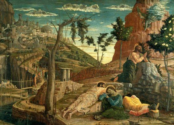 Andrea Mantegna, predella della Pala di San Zeno, tempera su tavola, 1457-1459, Musèe des Beaux-Arts, Tours