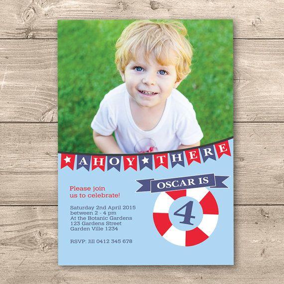 Boys Nautical Birthday Printable photo by InkandCardDesigns