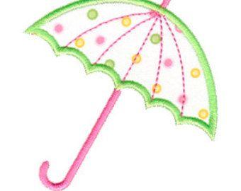 Applique, bordado de paraguas, paraguas Parasol diseño de apliques, apliques de ducha de bebé, bordado máquinas, descarga inmediata