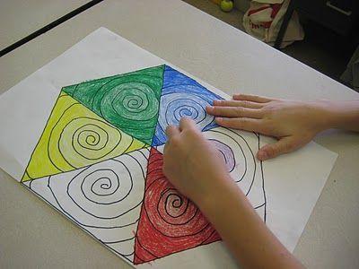 Wilkinson's Wonderful World of Art: 5th Grade - Triangular Design Color Wheels
