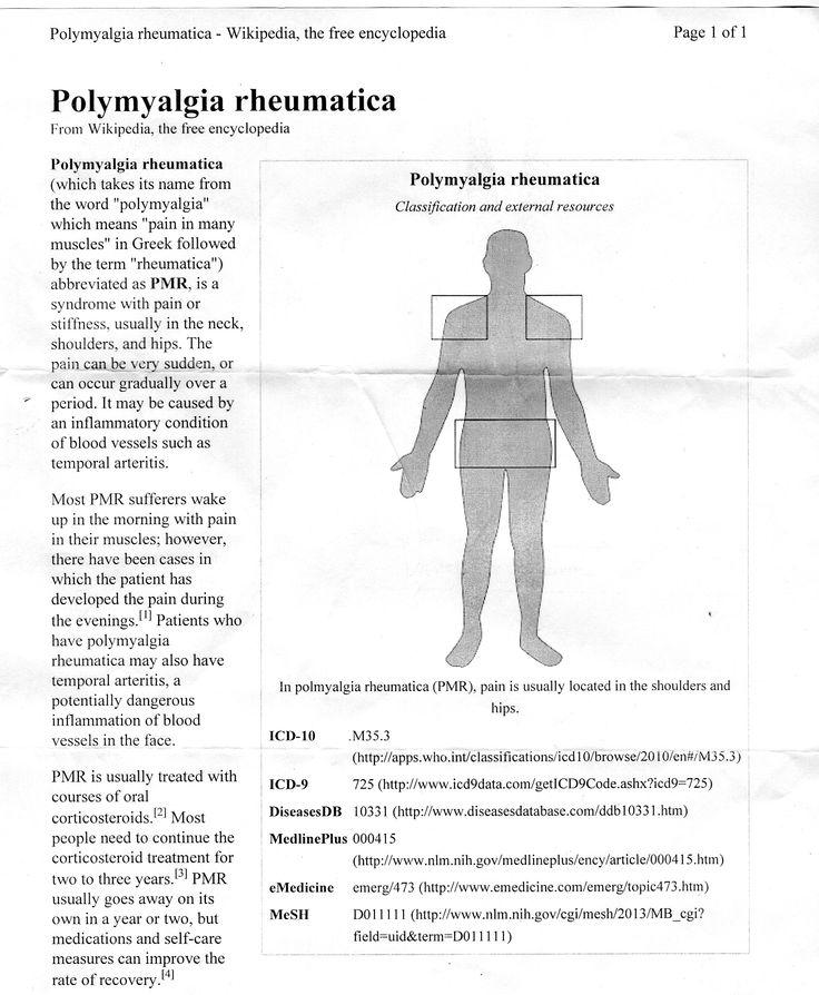 description of polymyalgia rheumatica
