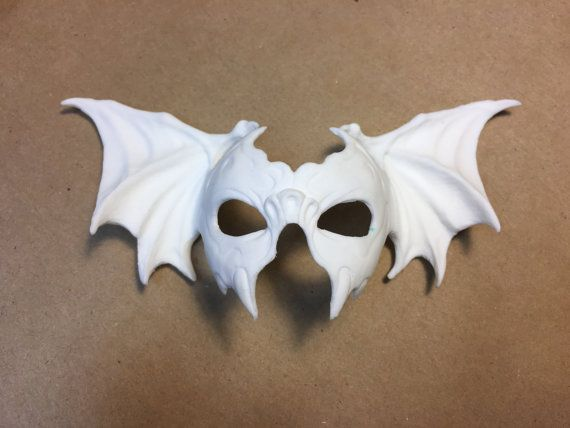 BLANK BAT mask 1/4 bjd unoa minifee size by SpritelyThings on Etsy