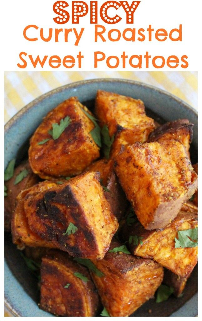 Spicy Curry Roasted Sweet Potatoes