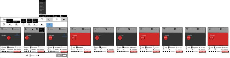 Wedding companies_static mockup concept for information line, panel.