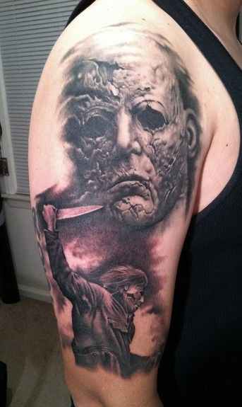 Day And Night Tattoos | Paradise Tattoo Gathering : Tattoos : Bob Tyrrell : Michael Myers