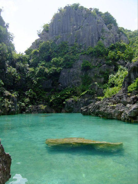 """Tangke"" a salt water lagoon in Gigantes Island,Iloilo, Philippines"