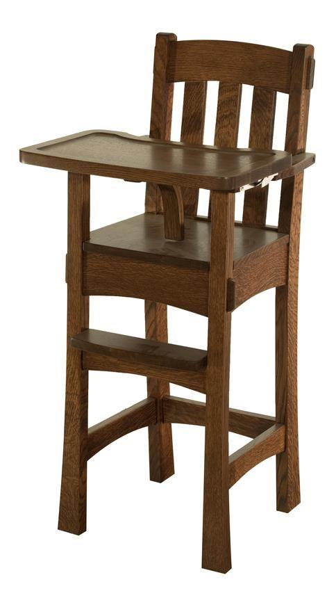 Amish modesto wooden high chair wooden high chairs for Bauen modern medesta