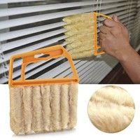 Wish | Newcomdigi Microfibre Venetian Blind Brush Window Air Conditioner Duster Dirt Clean Cleaner (Color: Yellow)